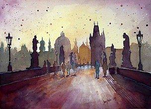 Grafika - Na Karlovom moste, limitovaná séria výtlačkov - 6259518_