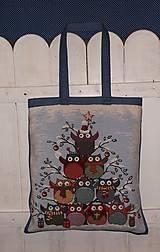 Nákupné tašky - Nákupná taška - sovičky - 6266732_