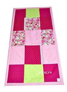 Úžitkový textil - Prehoz do postieľky 120x60cm z kolekcie Flóra - 6266979_