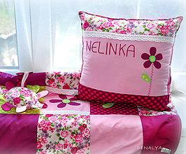 Textil - Vankúš s menom z kolekcie Flóra 35x30 - 6267099_