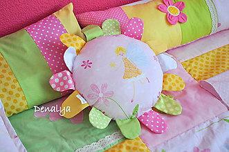 Textil - Vankúšik Kvetinka 30cm+ lúče 7cm - 6267283_