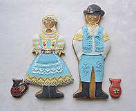 Dekorácie - Medovníkový párik - 6264134_