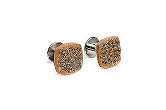 Šperky - Drevené manžetové gombíky Bella - 6265020_