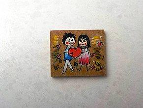 Magnetky - Nielen valentínska magnetka-zaľúbení - 6265977_