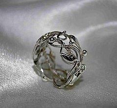 Prstene - Na správnej ceste - strieborná obrúčka - 6267273_