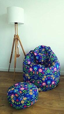Nábytok - Dizajnový sedací vak TAKOY 3XL+podnožka zdarma poťah 108 - 6264264_