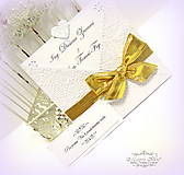 """Papiernictvo - Svadobné oznámenie """"Zlatá láska"""" - 6266967_"""