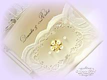 """Papiernictvo - svadobné oznámenie """"Šťastie ivory"""" - 6267050_"""