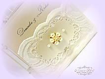 """Papiernictvo - svadobné oznámenie """"Šťastie ivory"""" - 6267051_"""