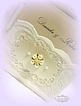 """Papiernictvo - svadobné oznámenie """"Šťastie ivory"""" - 6267053_"""