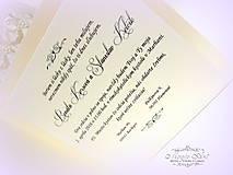 """Papiernictvo - svadobné oznámenie """"Šťastie ivory"""" - 6267065_"""