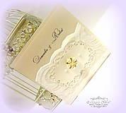 """Papiernictvo - svadobné oznámenie """"Šťastie ivory"""" - 6267066_"""