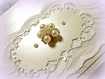 """Papiernictvo - svadobné oznámenie """"Šťastie ivory"""" - 6267070_"""