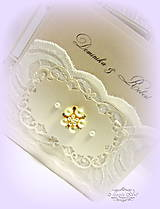 """Papiernictvo - svadobné oznámenie """"Šťastie ivory"""" - 6267071_"""