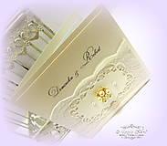 """Papiernictvo - svadobné oznámenie """"Šťastie ivory"""" - 6267076_"""