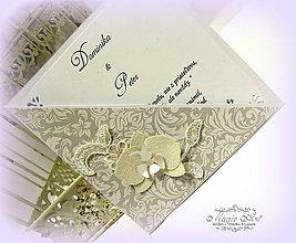 """Papiernictvo - Svadobné oznámenie """"Krásna neha orchidey"""" - 6267108_"""