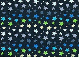 Detské čiapky - Bavlnený úplet -hviezdy farebne - 6264456_