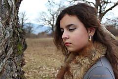 Náušnice - Strieborný set s grandlami - Wild princess - 6263827_