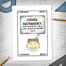 Papiernictvo - Logika matematiky - vtipné linajkové podložky do zošita (12) - 6265868_