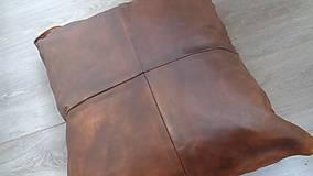 Úžitkový textil - Jemná teľacia obliečka na vankúš - pravá koža - 6266057_