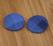 Materiál ručne robený - Buttony 25 mm - modré - 6268350_