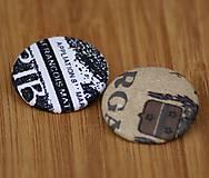 Odznaky/Brošne - Brošne 38 mm - písmenkové - 6268444_