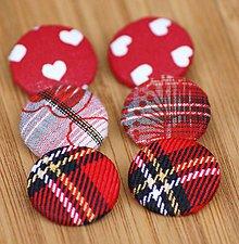 Materiál ručne robený - Buttony 25 mm - červené - 6268267_