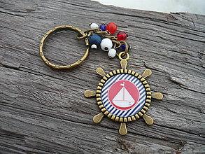 Kľúčenky - Klíčenka Lodička v proužku - 6269305_