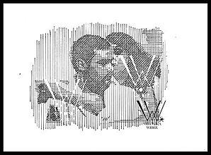 Grafika - Línie - vzťah (print v ráme) - 6268048_