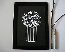 Obrazy - Kytica tulipánov... - 6268862_