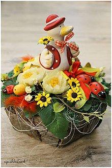 Dekorácie - Húska_s kvetinkami - 6270226_