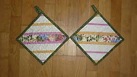 Úžitkový textil - Chňapka s jarným motívom - dva varianty - 6270463_