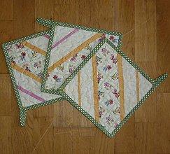 Úžitkový textil - Chňapka s jarným motívom - dva varianty (2) - 6270439_
