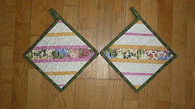 Úžitkový textil - Chňapka s jarným motívom - dva varianty (1) - 6270463_