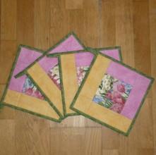 Úžitkový textil - Chňapka s jarným motívom - 6270547_