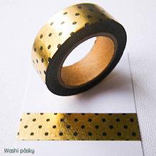 Papier - zlaté bodky - 6268223_