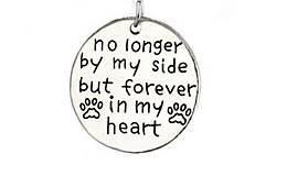Prívesok s retiazkou havino/mačička rip - NO LONGER BY MY SIDE, BUT FOREVER IN MY HEART