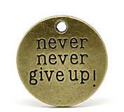 - Prívesok NEVER NEVER GIVE UP - 6268794_