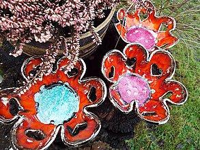 Svietidlá a sviečky - Srdiečkový svietnik (červený) - 6270389_