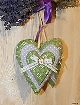 - Levanduľové srdiečko zeleno - fialkové - 6271012_