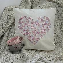 Úžitkový textil - Zamilovaný vankúš - 6267613_