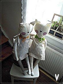 Hračky - Textilná hračka- mačička - 6268842_