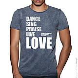 Oblečenie - Pánske tričko jeans úplet 100% bavlna WORSHIP - 6267573_