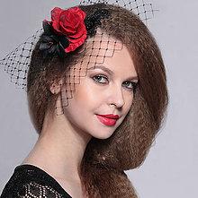 Ozdoby do vlasov - francúzsky čierny závoj Karmen, typ 107 - 6271574_