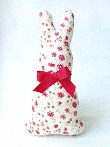 Dekorácie - Bunny (beige/red flowers) - 6273092_