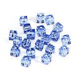 Korálky - Krištálová kocka 5601 - modrá 6x6mm - 6271514_