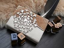 Papiernictvo - kožený zápisník Mini Dandelion - 6272600_