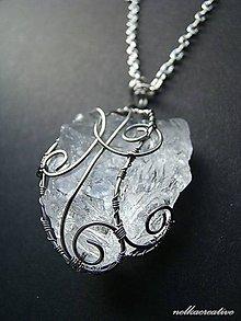 Náhrdelníky - Amulet svetla.../surový horský krištál/...antialergický - 6274040_