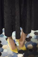 Sukne - Čierna kruhová sukňa - 6274822_