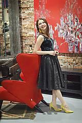 Sukne - Čierna kruhová sukňa - 6274825_